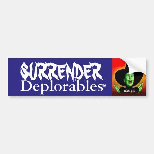 Pegatina Para Coche ¡Entrega Deplorables de Hillary Clinton!