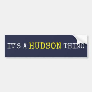 Pegatina Para Coche Es una cosa del Hudson