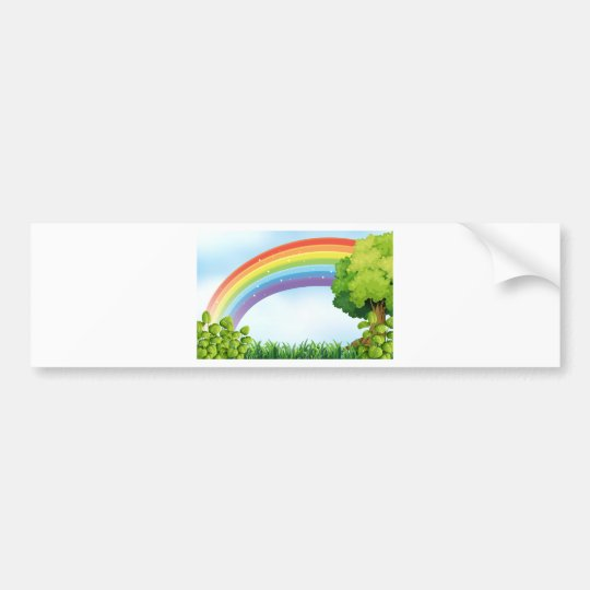 Pegatina Para Coche Escena de la naturaleza con el arco iris