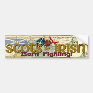Pegatina Para Coche ¡Escocés-Irlandés - el luchar llevado!