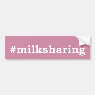 Pegatina Para Coche escritura blanca #milksharing