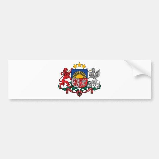 Pegatina Para Coche Escudo de armas de los ģerbonis de Letonia - de