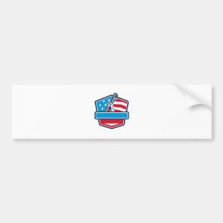 Pegatina Para Coche Escudo de la bandera de los E.E.U.U. de la llave