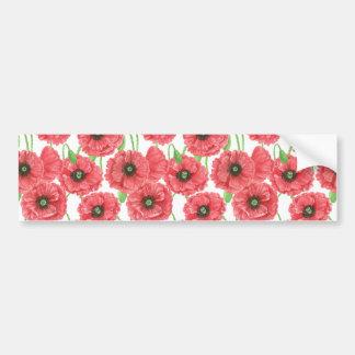 Pegatina Para Coche Estampado de flores de las amapolas de la acuarela