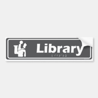 """Pegatina Para Coche """"Estaré en la biblioteca"""" divertida, muestra del"""