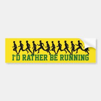 Pegatina Para Coche Estaría corriendo bastante: Siluetas del corredor