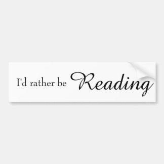 Pegatina Para Coche Estaría leyendo bastante