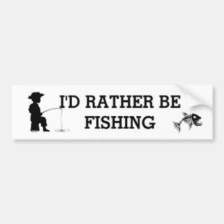Pegatina Para Coche Estaría pescando bastante