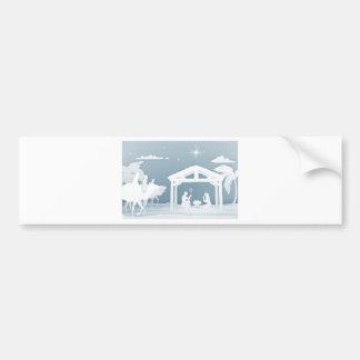 Pegatina Para Coche Estilo de Papercraft de la escena del navidad de