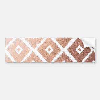 Pegatina Para Coche Falso modelo tribal color de rosa del efecto