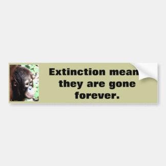 Pegatina Para Coche Fauna del rescate de la extinción