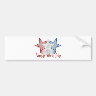 Pegatina Para Coche Feliz el 4 de julio