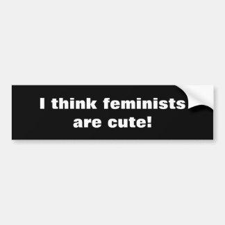 Pegatina Para Coche Feminista ofensiva