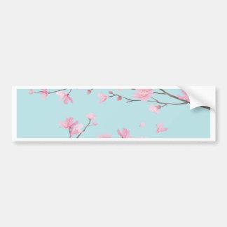 Pegatina Para Coche Flor de cerezo - azul de cielo