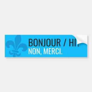 Pegatina Para Coche Flor de lis modern Quebec bonjour/hi - SU TEXTO