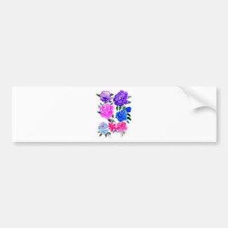Pegatina Para Coche Flores coloridas Art7