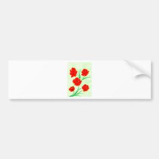 Pegatina Para Coche Flores rojas de la amapola