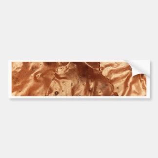 Pegatina Para Coche Foto macra de una cubierta del chocolate de una
