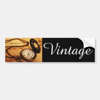 Pegatina Para Coche Fotografía del reloj de bolsillo del vintage