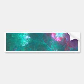 Pegatina Para Coche Fractal abstracto en una paleta fría