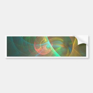 Pegatina Para Coche Fractal abstracto multicolor