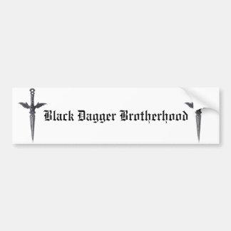 Pegatina Para Coche Fraternidad negra de la daga