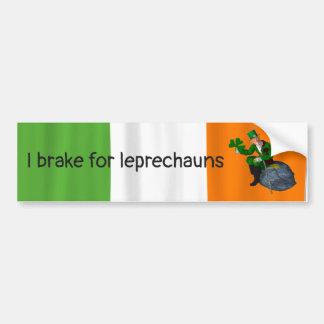 Pegatina Para Coche Freno para el día de St Patrick de los Leprechauns
