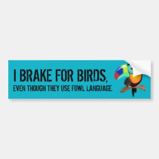 Pegatina Para Coche Freno para los pájaros,