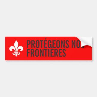 Pegatina Para Coche Frontière ENTREZ VOTRE TEXTE de no. de Québec