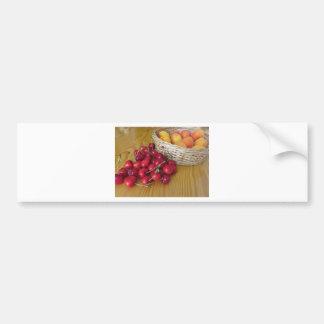 Pegatina Para Coche Frutas frescas del verano en la tabla de madera