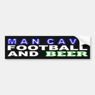 Pegatina Para Coche Fútbol y cerveza de la cueva del hombre