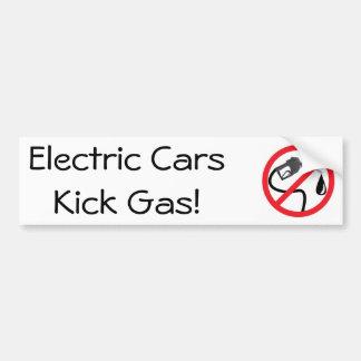 Pegatina Para Coche Gas del retroceso de los coches eléctricos