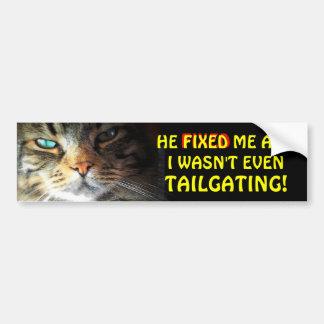Pegatina Para Coche Gato de parachoques: Consigue Meme fijo