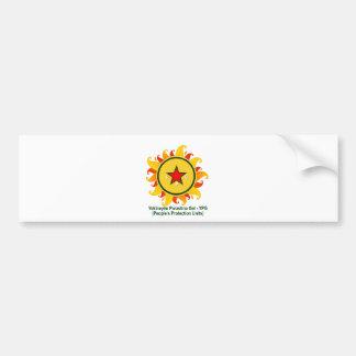 Pegatina Para Coche Gel de Yekîneyên Parastina - YPG