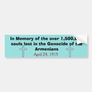 Pegatina Para Coche Genocidio armenio Bumpersticker
