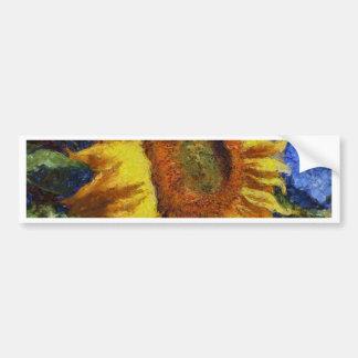 Pegatina Para Coche Girasol en el estilo de Van Gogh