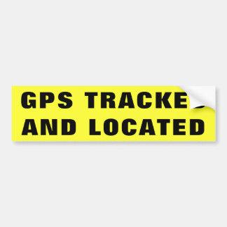PEGATINA PARA COCHE GPS SIGUIÓ Y LOCALIZÓ 2