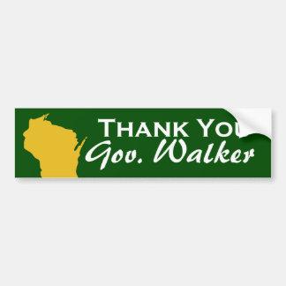 Pegatina Para Coche Gracias caminante de Scott del gobernador de
