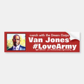 Pegatina Para Coche gracias #LoveArmy a los cuerpos y a Van ideales