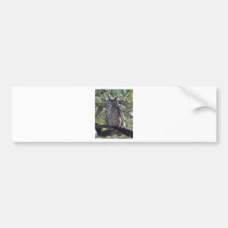 Pegatina Para Coche Gran búho de cuernos en el árbol