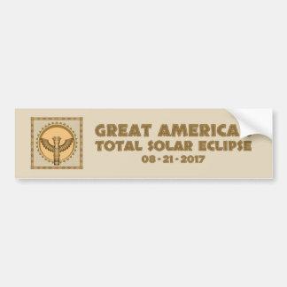 Pegatina Para Coche Gran eclipse solar total americano - 2017