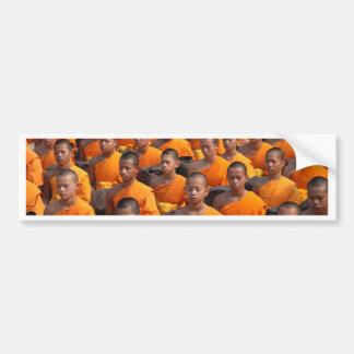 Pegatina Para Coche Grupo grande de monjes Meditating