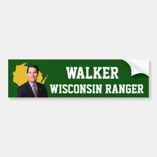 Pegatina Para Coche Guardabosques de Wisconsin del caminante