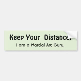 Pegatina Para Coche ¡Guarde su distancia! Arte marcial - mensaje