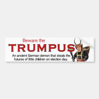 Pegatina Para Coche ¡Guárdese del Trumpus!  Trumpus grande
