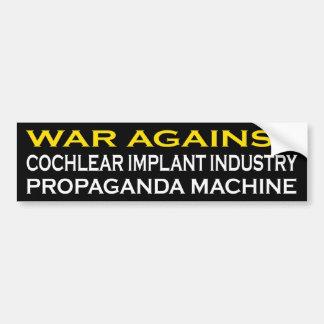 Pegatina Para Coche Guerra contra la máquina de Prograganda de la
