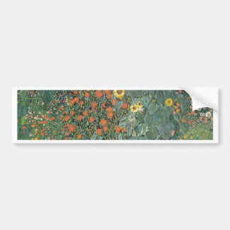 Pegatina Para Coche Gustavo Klimt - flores de los girasoles del jardín