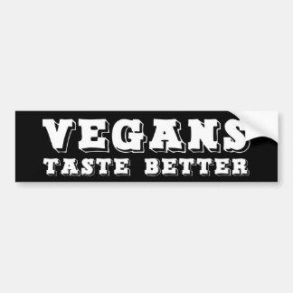 """Pegatina Para Coche """"Gusto de los veganos mejor """""""