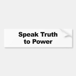 Pegatina Para Coche Hable la verdad al poder