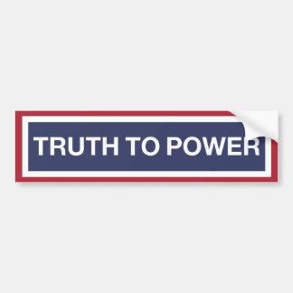 Pegatina Para Coche ¡Hable la VERDAD al poder!